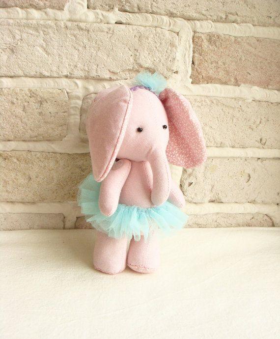 Ballerina Elephant  Soft Fabric Toy  Shabby Chic by sistersdreams, £13.00