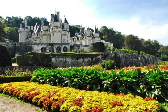Lovely view of Chateau du Soleil, Jean-Philippe's family home in France's Loire Valley. (Actually Chateau d'Usse)