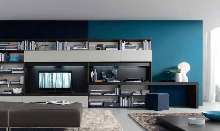 Best 20 modern tv wall units ideas on pinterest tv unit images television wall mounts and - Parete attrezzata con scrittoio ...