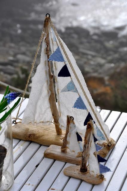 Drift wood sailboats