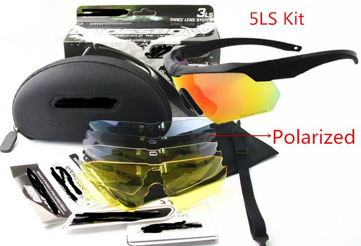 Tactical Military Goggles Army Glasses Polarized Sunglasses Cycling Hiking Eyewear Cross Eyeshield 3ls / 5ls Lens Kit HT12-0005