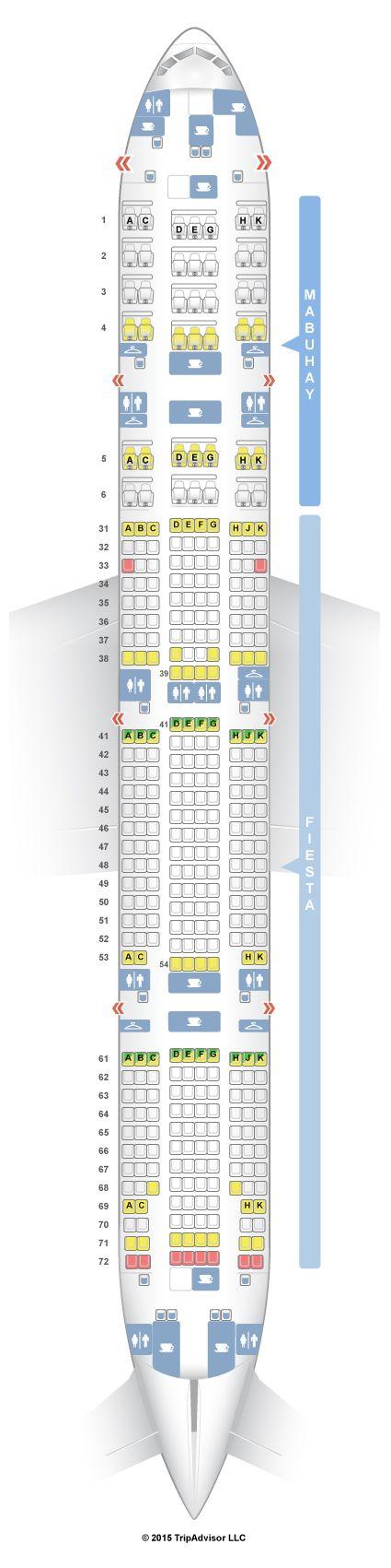 SeatGuru Seat Map Philippine Airlines Boeing 777-300ER (777) - SeatGuru