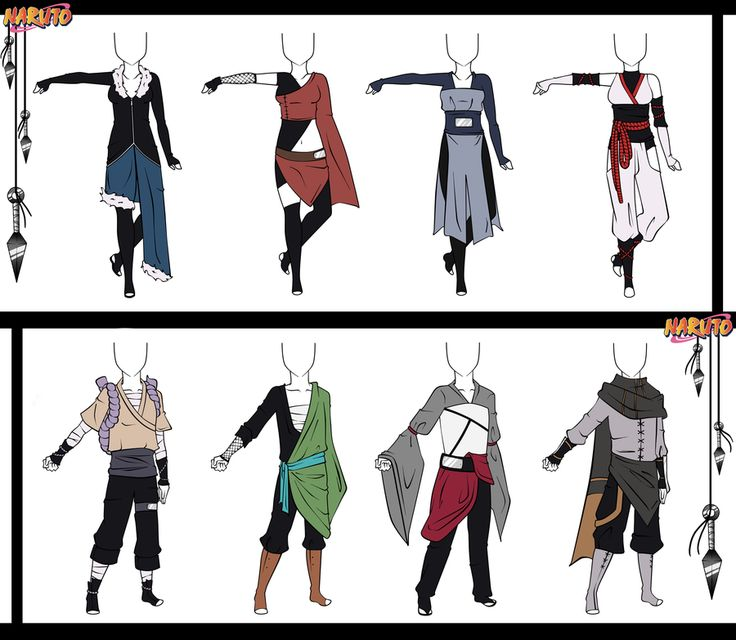 Naruto Adoptable Outfit Set 12 - Closed by Orangenbluete on deviantART | Manga clothes and ...
