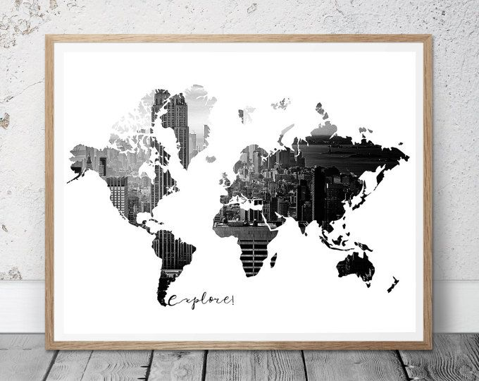 17 meilleures id es propos de carte murale du monde sur pinterest mappemonde plans et. Black Bedroom Furniture Sets. Home Design Ideas