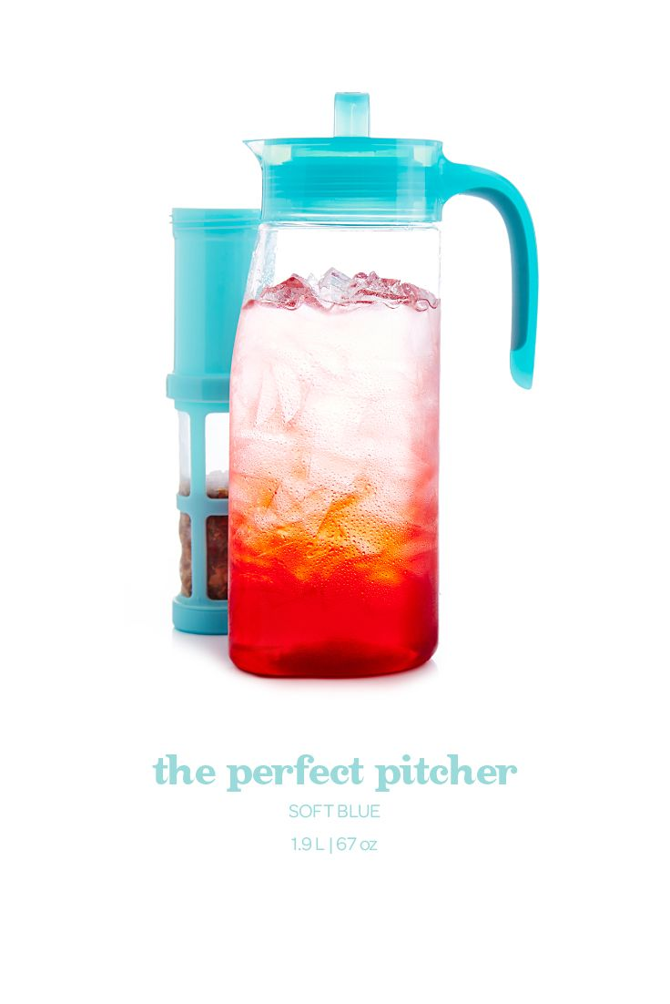 Soft Blue Perfect Pitcher - Serving iced tea to a crowd just got easier with this leakproof pitcher in soft blue.