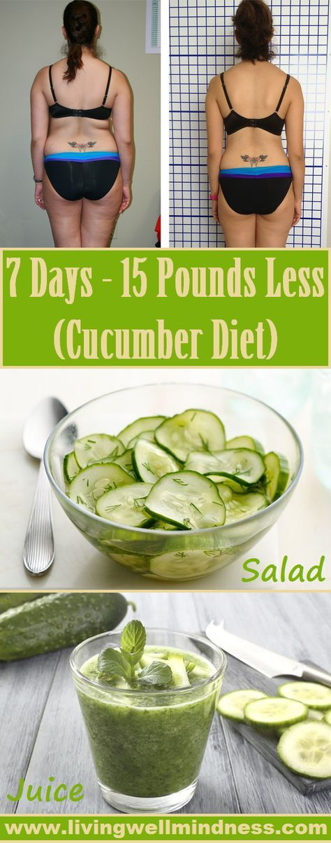 7 DAYS – 7 KG LESS (CUCUMBER DIET)