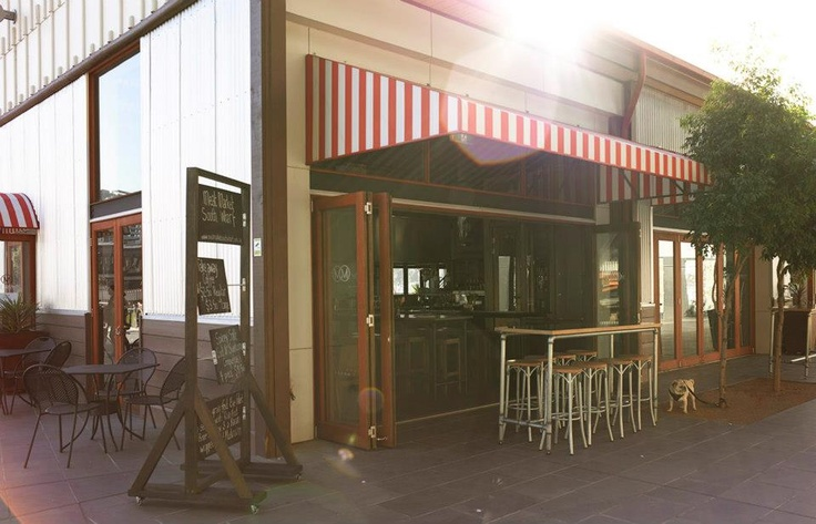Meat Market's candy-striped canopy #swpromenade #melbourne #steak