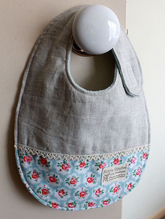Baby girls bib   Rose garden by MikraRouha on Etsy, $17.00