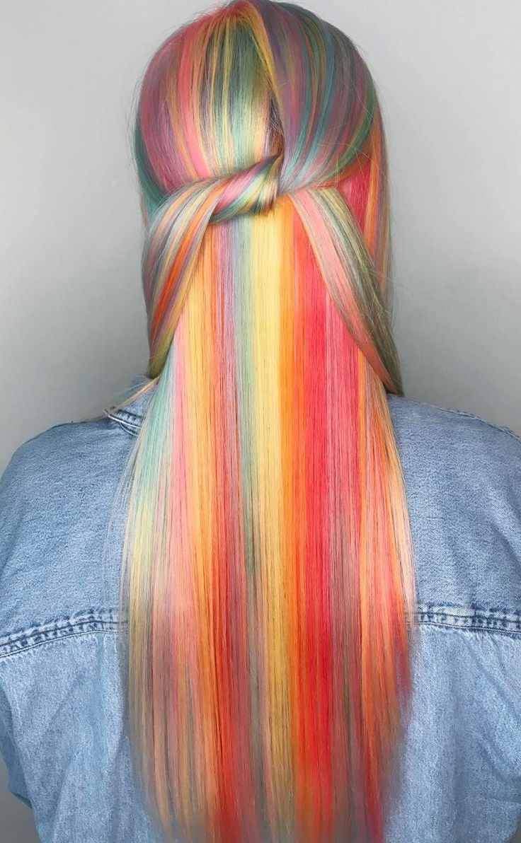 200 best rainbow hair collection images on pinterest | colorful