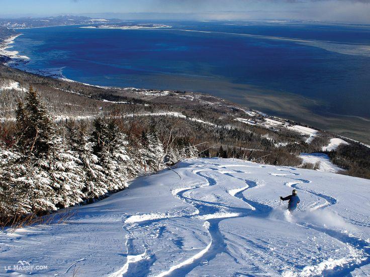 Le Massif de Charlevoix, Quebec, Canada #charlevoix #lemassif #SommetsStLaurent Ski // Ski Québec