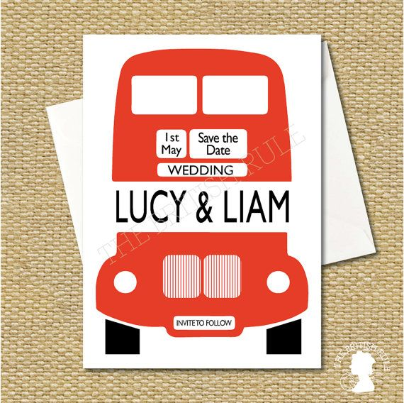DIY Custom Printable London Red Bus Save the by TheBritishRule, $15.00