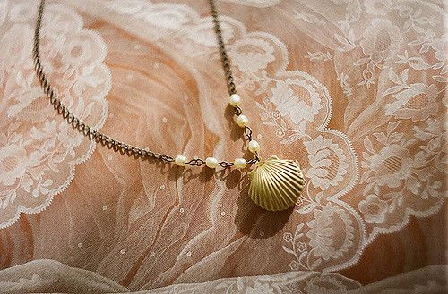 ~shell necklace~ neck necklace jewellery shell sea seaside beach mermaid pearl beads