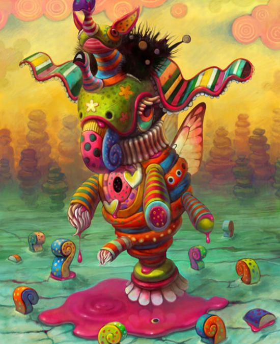 i've always been attracted to this style because of its bright colors, lisa frank twisted!