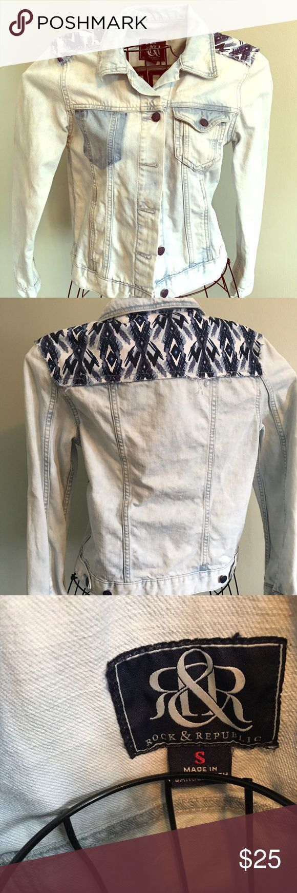 Denim jacket Rock and Republic EUC ladies denim jacket by Rock and Republic Rock & Republic Jackets & Coats Jean Jackets