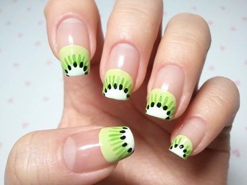 kiwi nail art - Click image to find more hot Pinterest pins