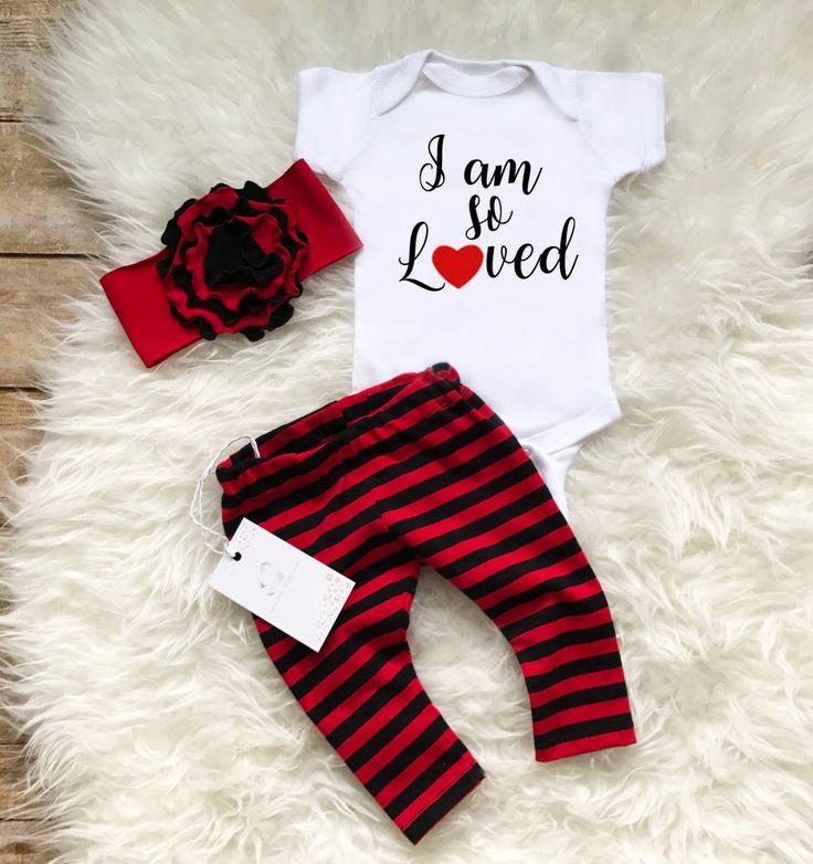 Baby Girl Outfit Baby Girl I am so Loved Coming Home Outfit  Newborn Girl Outfit Photo Prop  Black Red Stripe Outfit  Baby Shower Gift by LLPreciousCreations on Etsy https://www.etsy.com/listing/530253813/baby-girl-outfit-baby-girl-i-am-so-loved