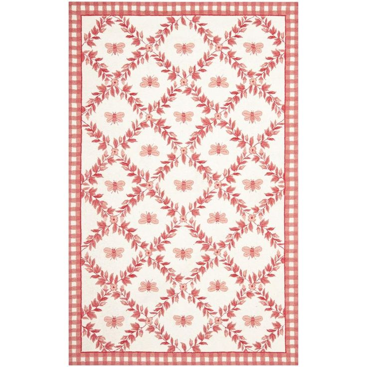 Safavieh Chelsea Ivory/Rose 5 ft. 3 in. x 8 ft. 3 in. Area Rug-HK55C-5 - The Home Depot