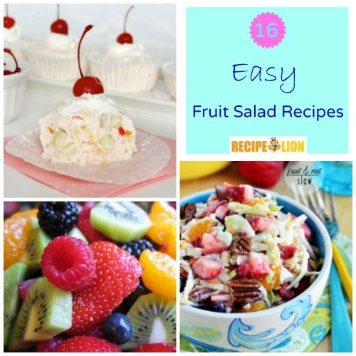 16 Easy Fruit Salad Recipes - There's nothing better than an easy fruit salad recipe for potlucks and picnics!