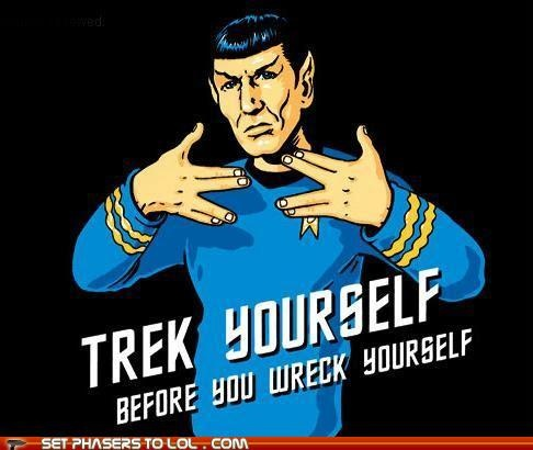 Get down with yo bad self, Spock!: Geek, Words Of Wisdom, Stuff, Funny Captions, Stars Trek, Startrek, Spock, T Shirts, Star Trek