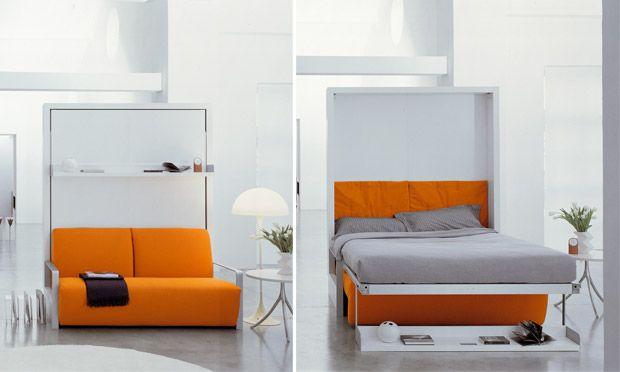 Sala-quarto em um móvel