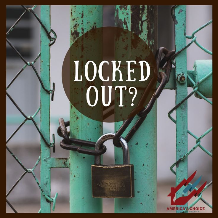 Never get locked out again! ReKey Service compliments of America's Choice Home Warranty!