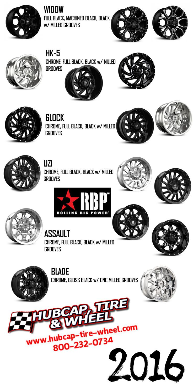 New 2016 RBP wheels and rims for your truck, Jeep, SUV.
