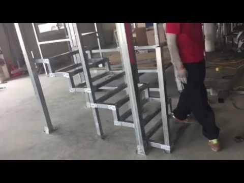 사각파이프 조인트이용 계단만들기