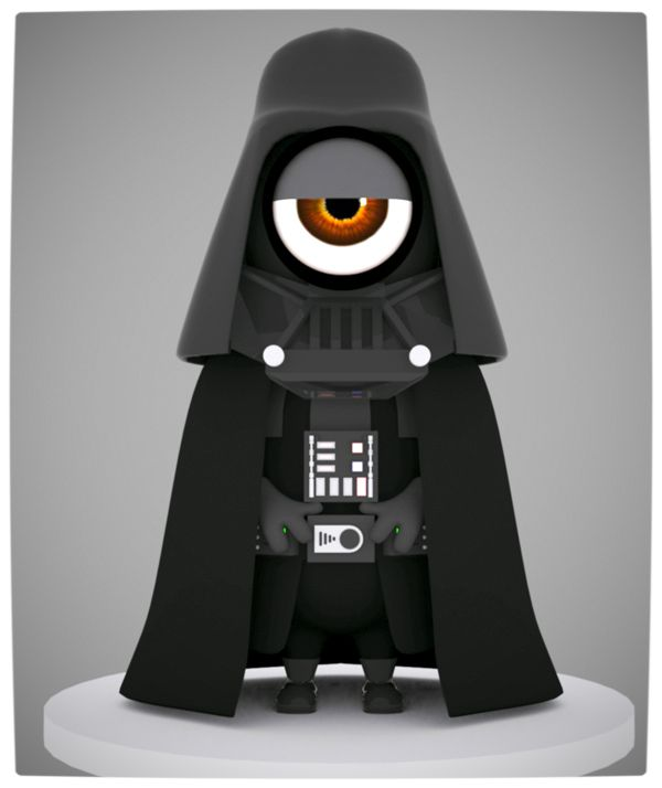 Vamers - Artistry - Fandom - Minion Wars Feel the Force - Star Wars and Despicable Me Mash-Up - Darth Vader Minion
