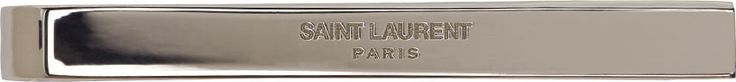 Saint Laurent - Silver Slim Logo Tie Bar