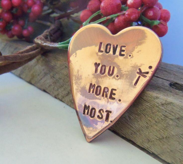 Copper Wallet Insert Gift Men Love you More Love you Most Jewelry Boyfriend Pocket Charm Wife Purse Custom Girlfriend Husband Anniversary