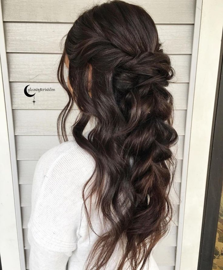 Half Up Half Down Wedding Hairstyle Inspiration: Pin By Kait Preston On Hair Styles