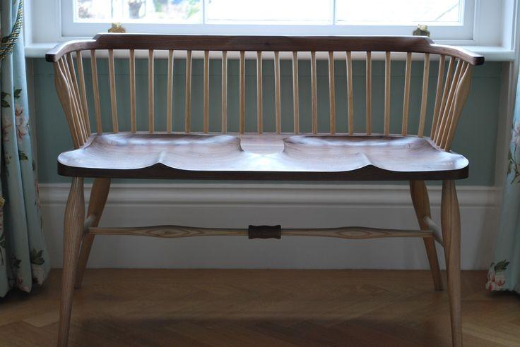 AYLA - Walnut Double-Windsor Chair