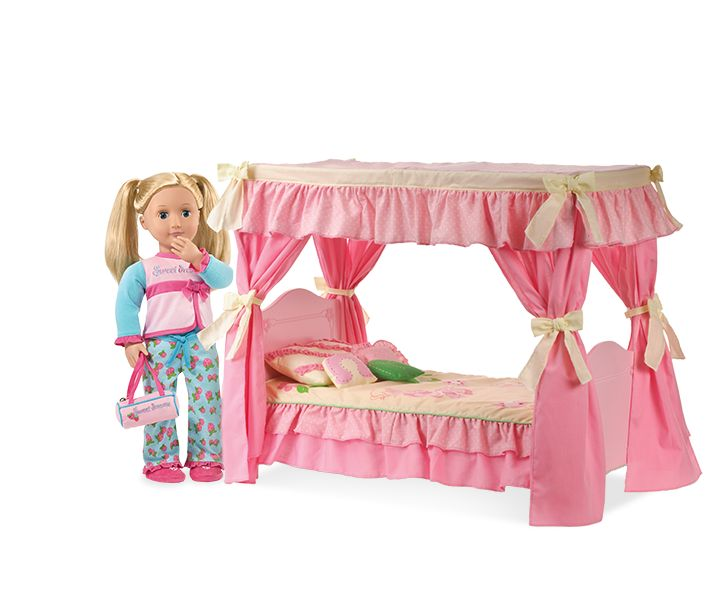 Sweet Dreams Canopy Bed Our Generation Dolls 18 Quot Dolls
