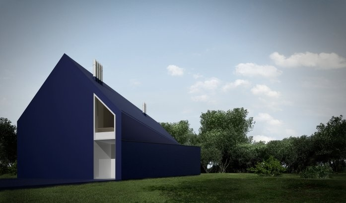 L House, Lodz, Poland,   Moomoo Architects