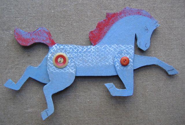 Ann Wood Handmade-cardboard horses