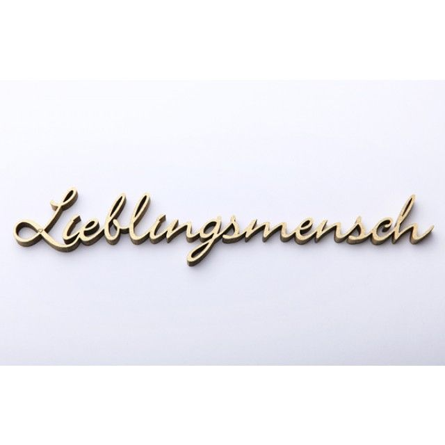 NOGALLERY Lieblingsmensch - Deko Schriftzug Holz via selekkt.com