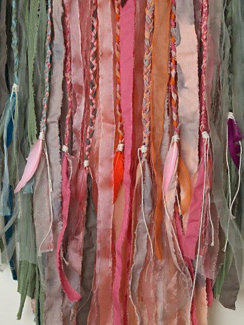 Boho fabric garland