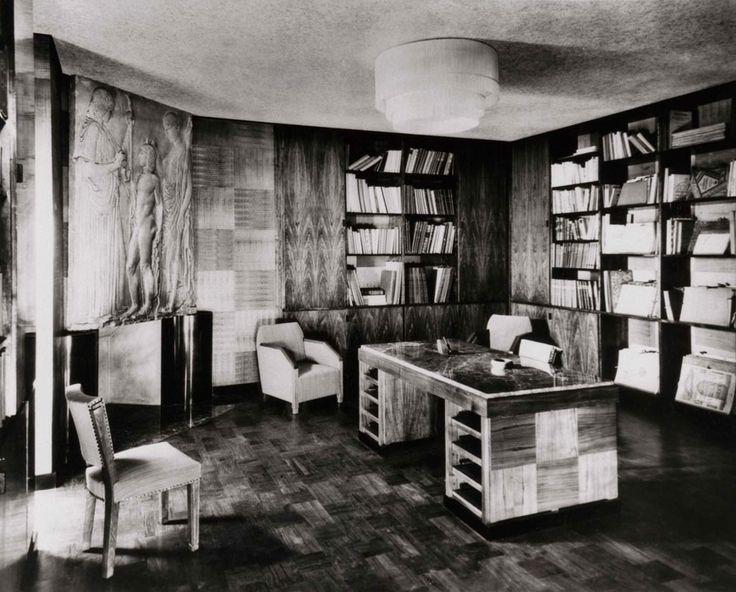 Canadian Art Deco Maison D Ernest Cormier Bibliothèque Vue De L