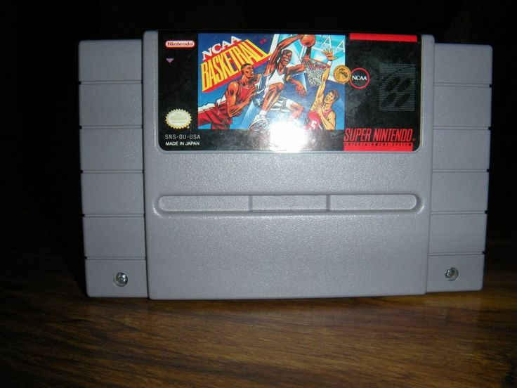 NCAA Basketball Video Game Cartridge Super NES 1992 Nintendo