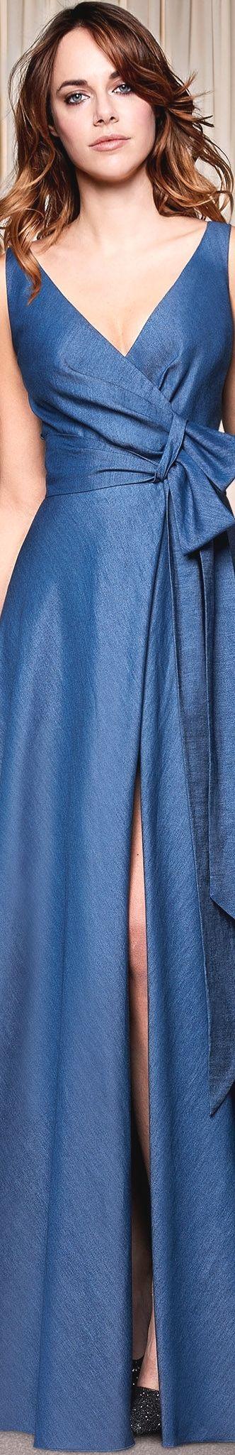@roressclothes clothing ideas #women fashion blue dress Atelier Emé Collection 2018