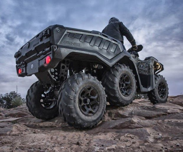 "2015 Can-Am Outlander 6X6 XT All new 2015 ""Can-Am Outlander 6X6 XT"" Can-Am has turned their ""Outlander ATV"" into a 6-wheeler. The addition o..."