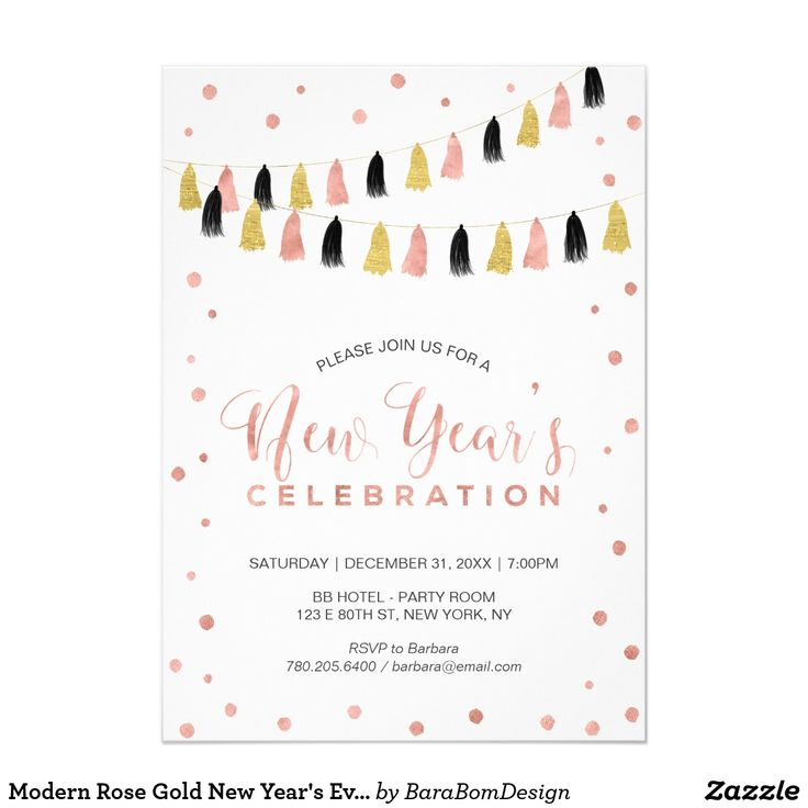 11 best New Year Party Invitation images on Pinterest - best of invitation party card