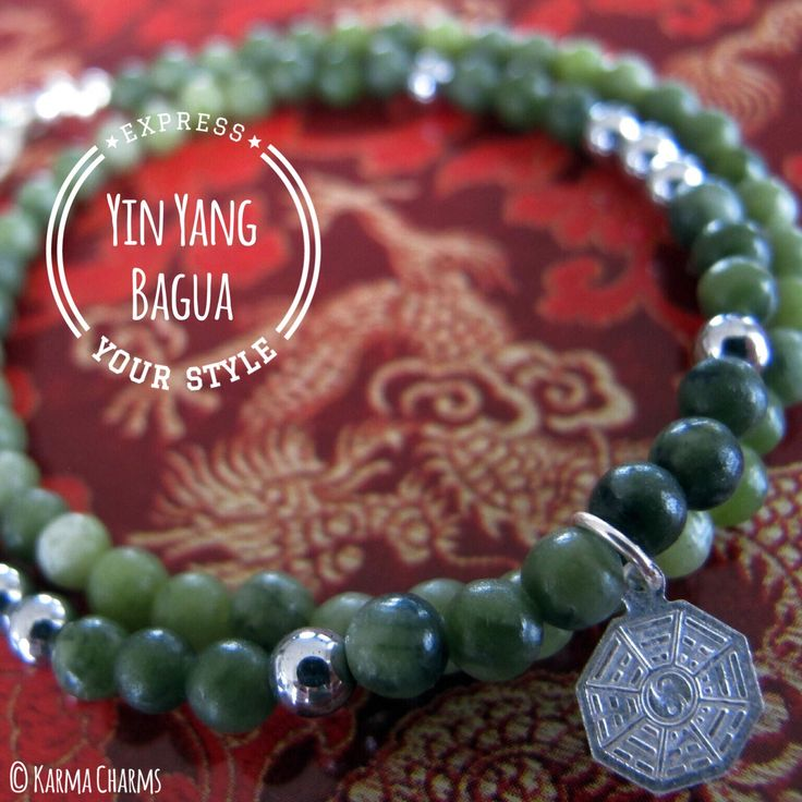 Wrap bracelet Trigram (I Tjing). Olive color, matted jade beads (4mm) with silver plated Hematite. Sterling Silver charm and parrot lock. Do you remember the television series Lost? The Dharma Initiative incorporated the Bagua in their logo. #jade #itjing #yoga #hematite #beads #bracelets #trigram #dharma #karma #handmade #juwelen #jewelry #jewellery #handmadejewelry #yogajewelry #oneofakind #stones #healingstones #semiprecious #semipreciousstones #mystery #meditation #protection #spiritual
