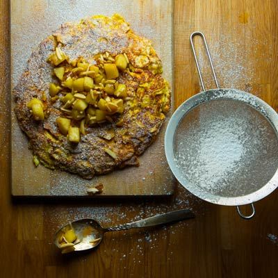 Cinnamon Sugar Matzo Brei with Roasted Apple Charoset ...