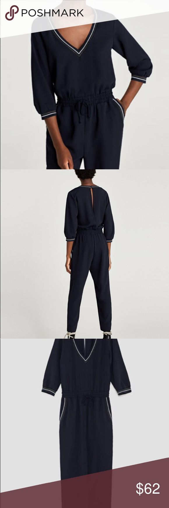 Zara jumpsuit BRAND NEW!! This season New with tags Zara jumpsuit! Perfect for a night out. Zara Other
