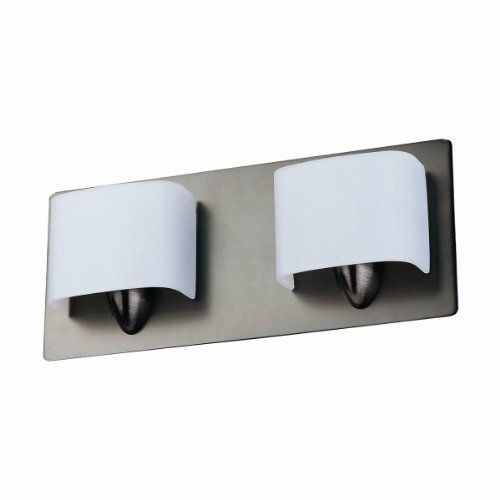 DVI DVP3522BN 2 Light Long Beach Bathroom Light, Buffed Nickel by DVI. $108.65. From the Manufacturer                Finish: Buffed Nickel, Glass:Bent Opal Glass, Light Bulb:(2)75w T4 G9 120v Halogen Two Light Vanity. No Junction Box Required Where Code Permits.                                    Product Description                DVP3522BN Features: -Bath vanity.-Bent opal glass shade.-Contemporary style.-No junction box required where code permits.-Specialty bulbs ...