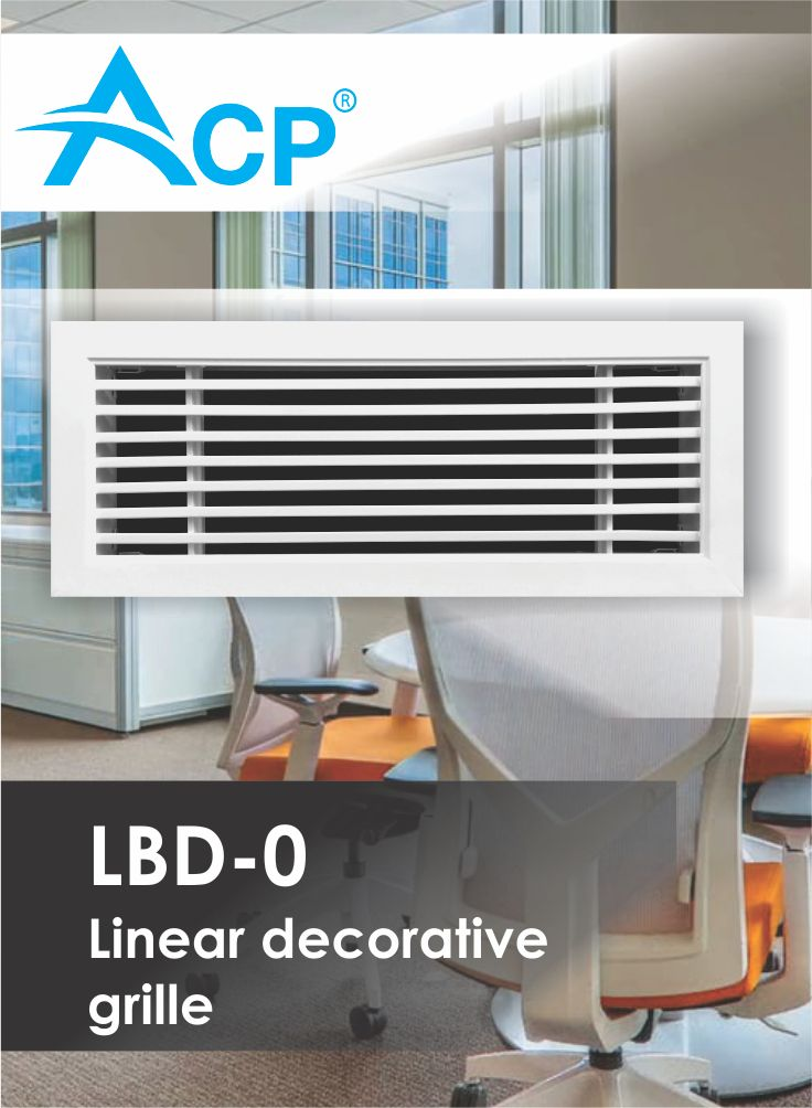 LBD-O Linear Decorative Ventilation Grille (Grila Liniara Decorativa petnru Ventilatie)  | #hvac | #acp | #manufacturer | #ventilation | #products | #romania
