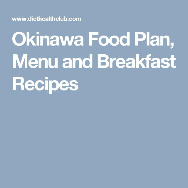 Recipes okinawan diet