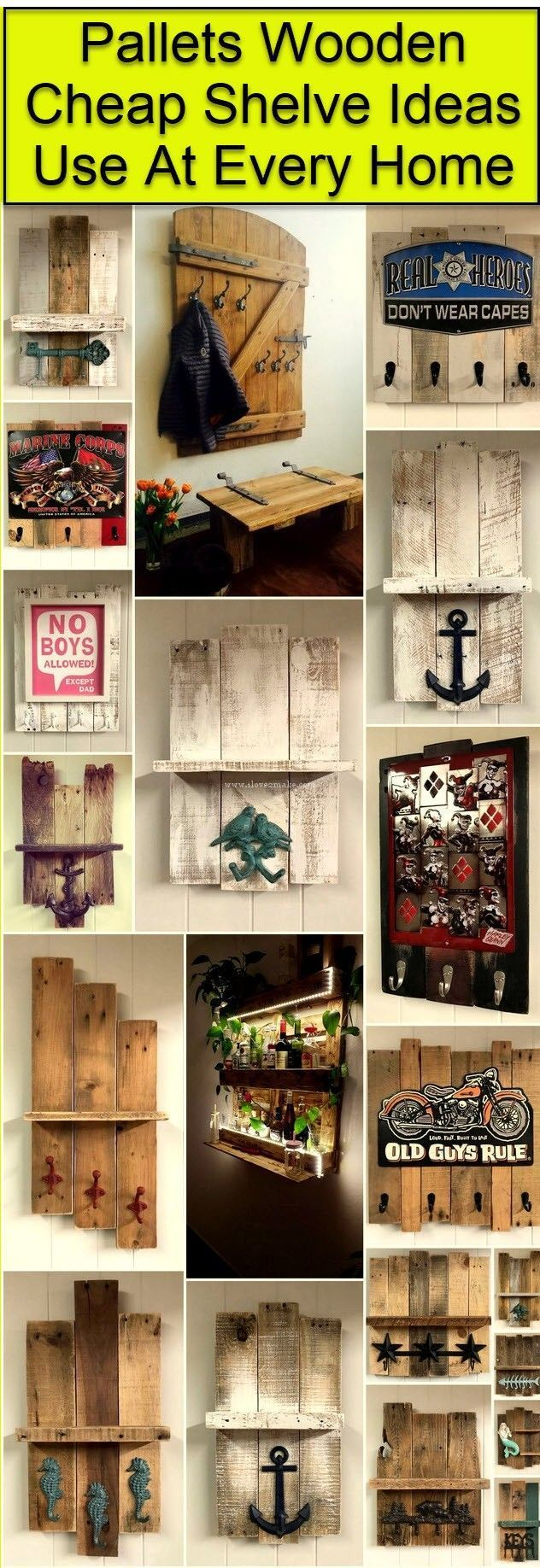 Pallet projects pallet wood shelve ideas esquineros for Repisas hechas con palets