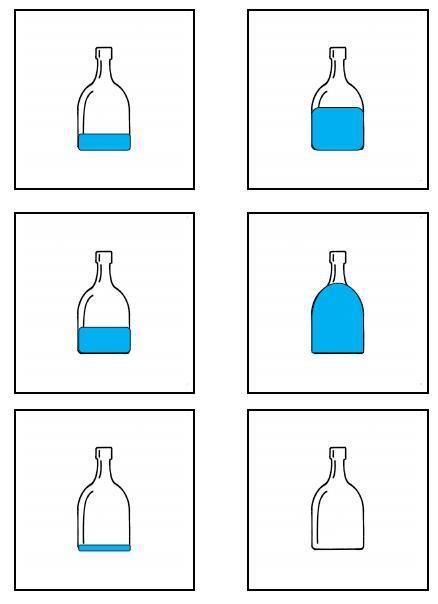Logische volgorde: water ook leuk in huishoek/rekenhoek. zelf flesjes vullen